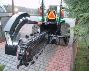 Maszyna do drenażu i rowków nawadniających
